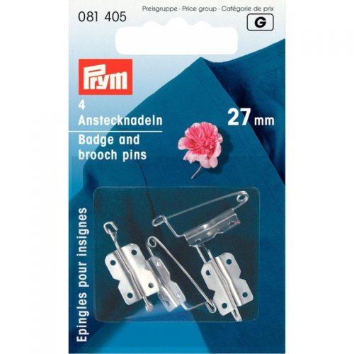 Prym G;4st Corsagespeldjes Zilver 27mm