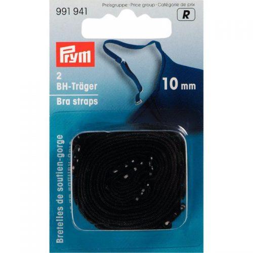 Prym R;2st Schouderbandjes Zwart 10mm
