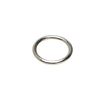 10st Gordijnring Zilver 20x27mm