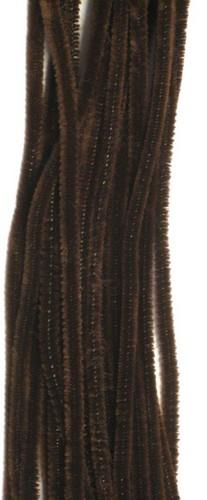 20st Chenille 6mmx30cm Bruin
