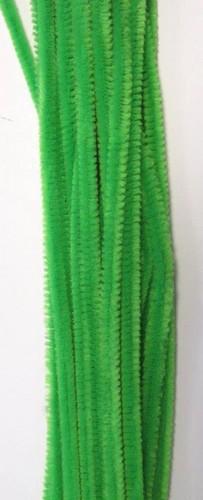 20st Chenille 6mmx30cm Licht Groen