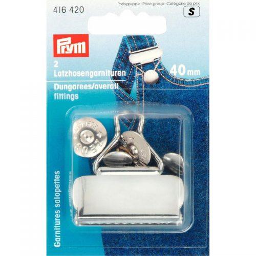 Prym S;2st Tuinbroekgesp Zilver 40mm