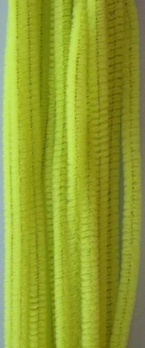 20st Chenille 6mmx30cm Licht Geel