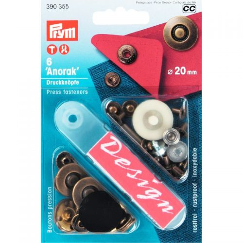 Prym BB;6st Drukkers Fantasie Messing 20mm