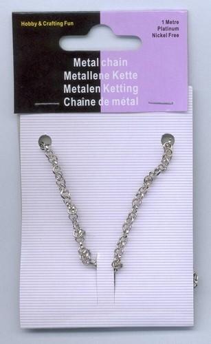 Metalen Ketting Zilver 3.5mm 1m