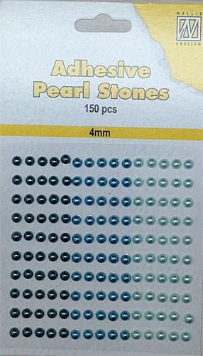 150st Plakparels Blauw/Aqua 4mm