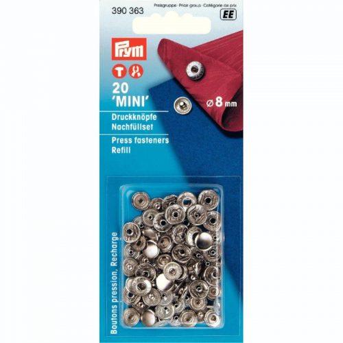 Prym EE;10st Refill Drukkers Zilver 8mm