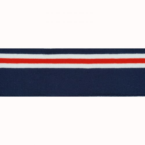 REStyle Ribboord 7x110cm D.Blauw/Wit/Rood