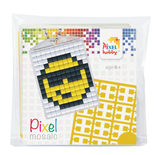 Pixel Medaillon Startset Smiley