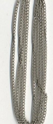 Metalen Ketting Fijn Zilver 1.9mm 1m