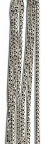 Metalen Ketting Middel Zilver 1m