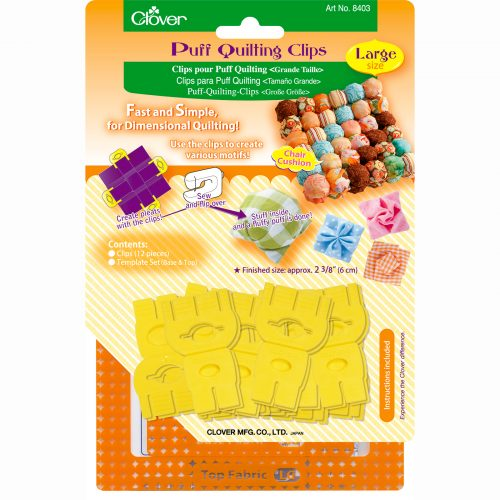 Clover Puff Quilting Clip Large