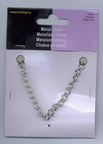 Metalen Ketting Zilver 5.5mm 1m