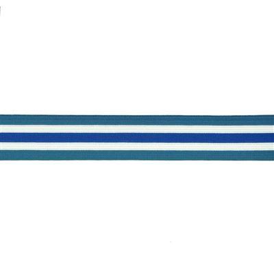 Elastiek Streep Jeansblauw 35mm