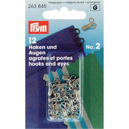 Prym G;Haak&Ogen Nikkel Middel