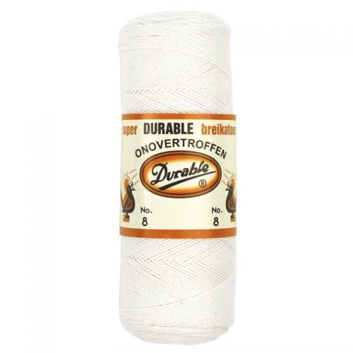 Durable Breikatoen No.8 Wit 100gram