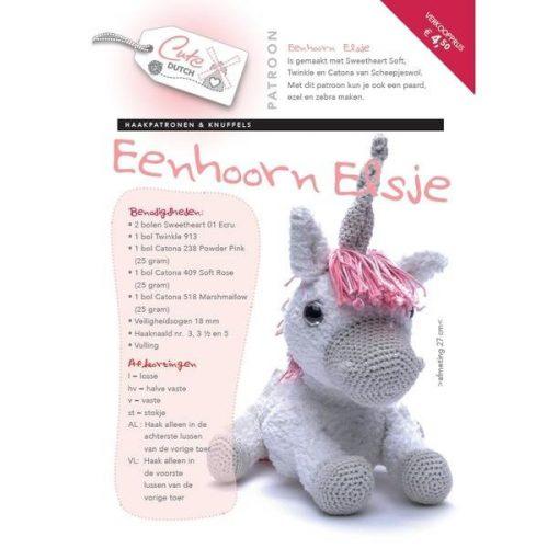 CD Haakpatroon Eenhoorn Elsje
