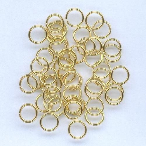 50st Ringetjes Goud 8mm