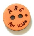 Knoop ABC Kids Oranje 18mm