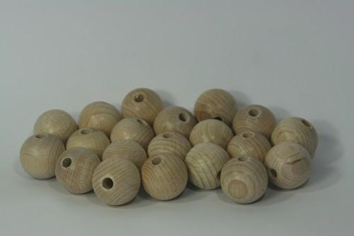 10st Houten Ballen/Kralen 25mm