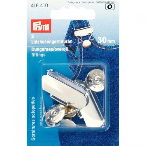 Prym O;2st Tuinbroekgesp Zilver 30mm