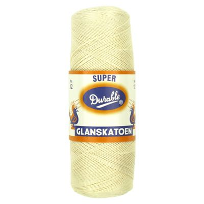 Durable Glanskatoen No.12 Creme 100gram