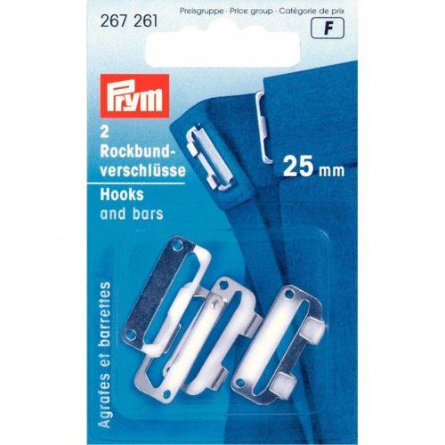 Prym F;2st Rokhaken Zilver 25mm