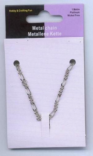 Metalen Ketting Zilver 3.5mm en 7mm 1m