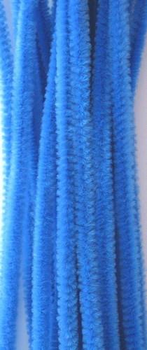 20st Chenille 6mmx30cm Blauw