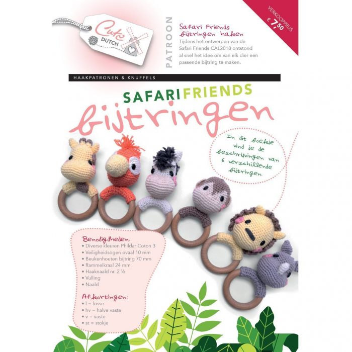 CD Haakpatroon Safari Friends Bijtringen