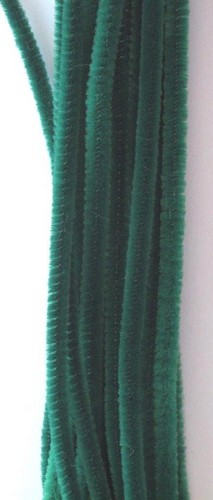 20st Chenille 6mmx30cm Groen