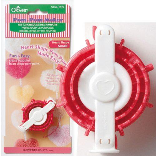 Clover Pompom Maker Hart Klein