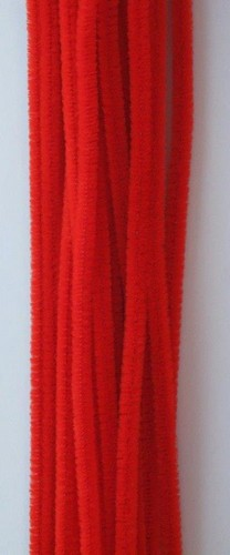 20st Chenille 6mmx30cm Rood