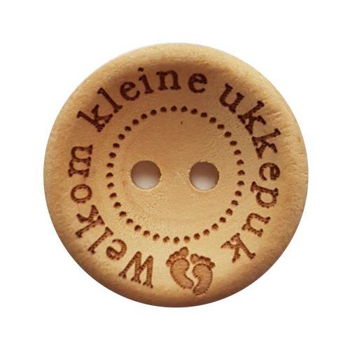 CD Knoop Hout Welkom Kleine Ukkepuk 20mm