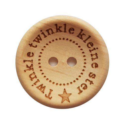 CD Knoop Hout Twinkle Twinkle Kleine Ster 20mm