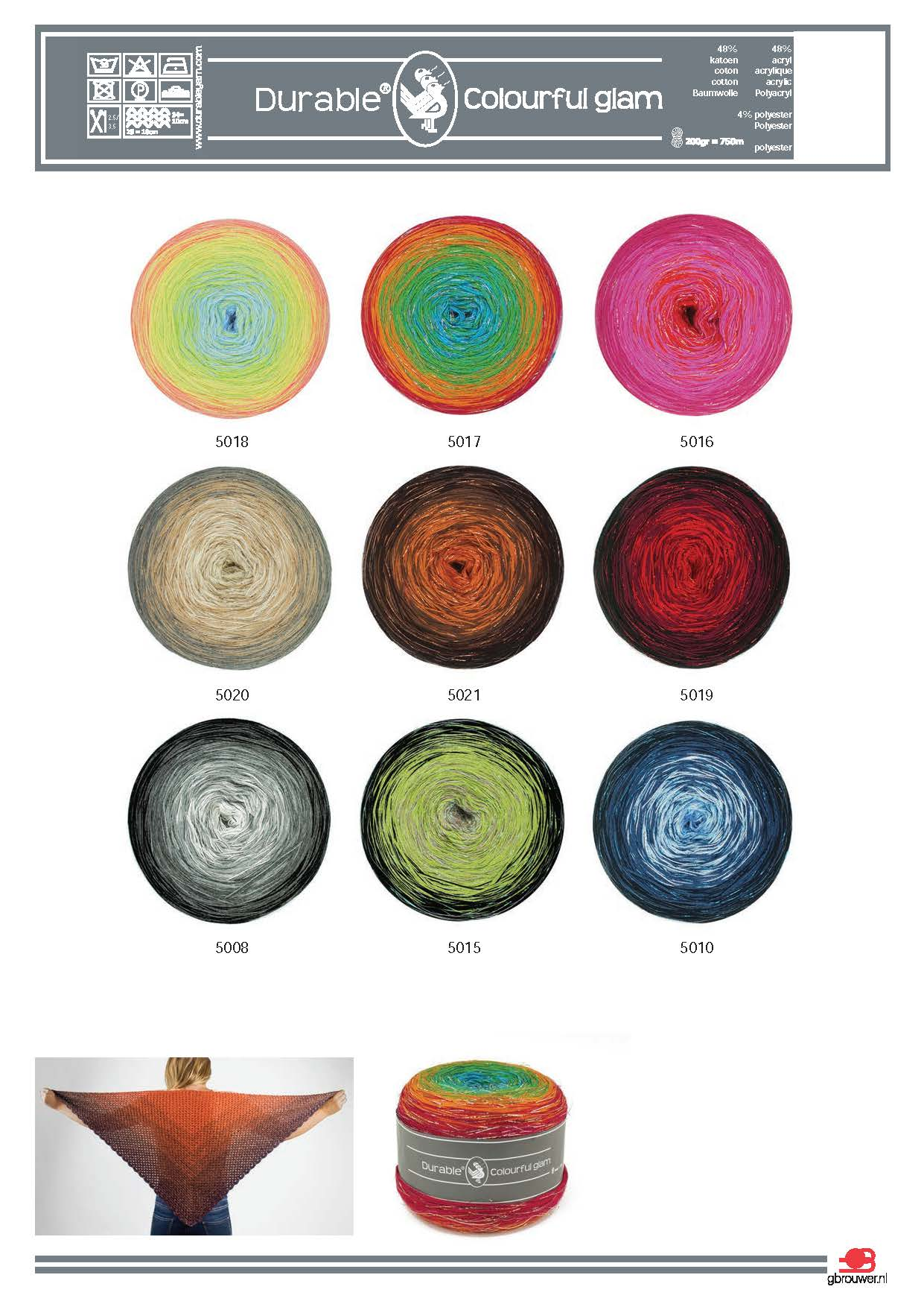 Durable Colourful Glam 200gr Rood-5019