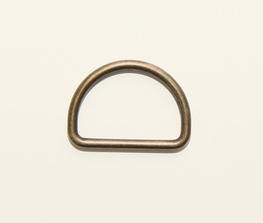 6st D-Ringen Brons 25mm