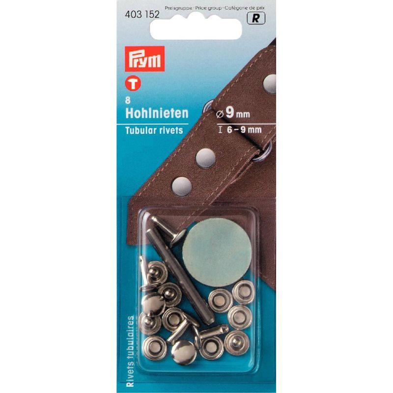 Prym R;8st Holnieten Zilver 6-9mm