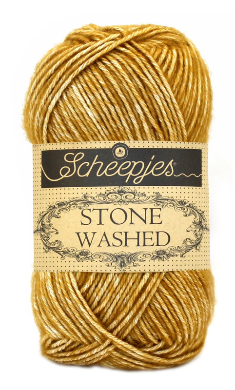 Wol;Stone Washed-809 Yellow Jasper