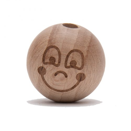 2st Kraal Hout Smiley Lotte 25mm