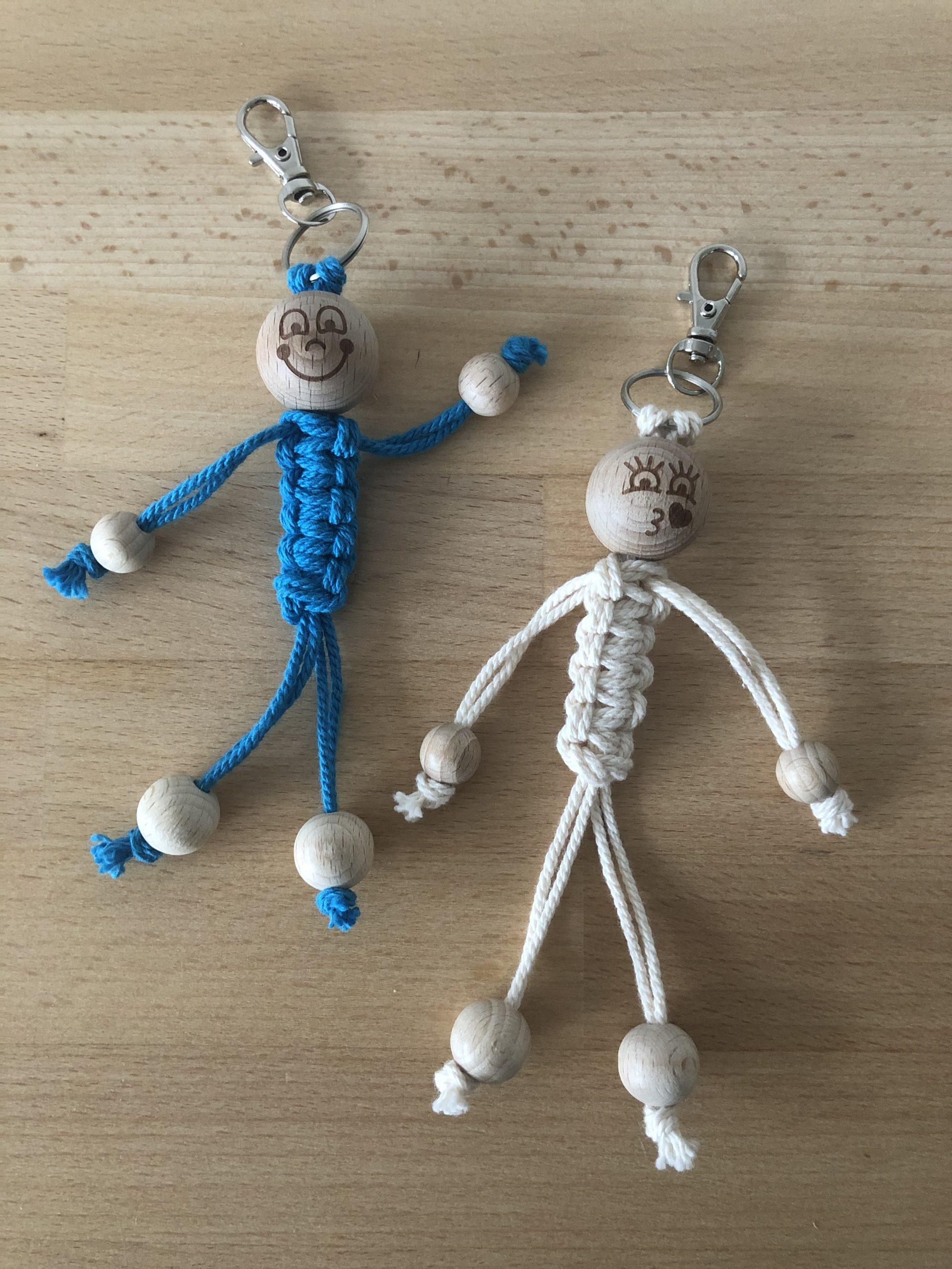 DIY Gelukspoppetjes Blauw/Creme 2stuks