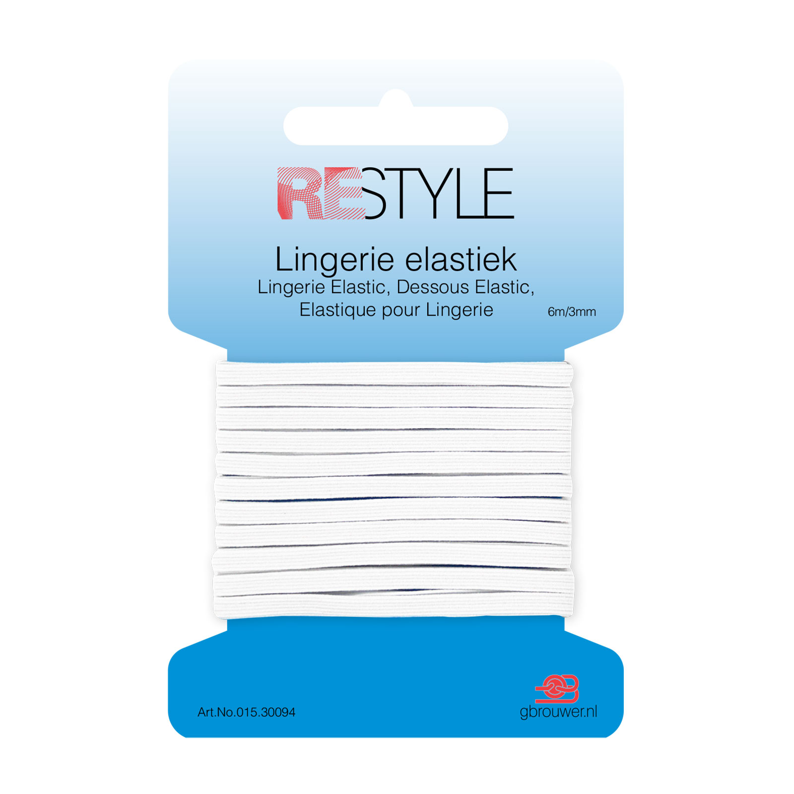 REStyle Lingerie Elastiek 3mm 6m Wit-009