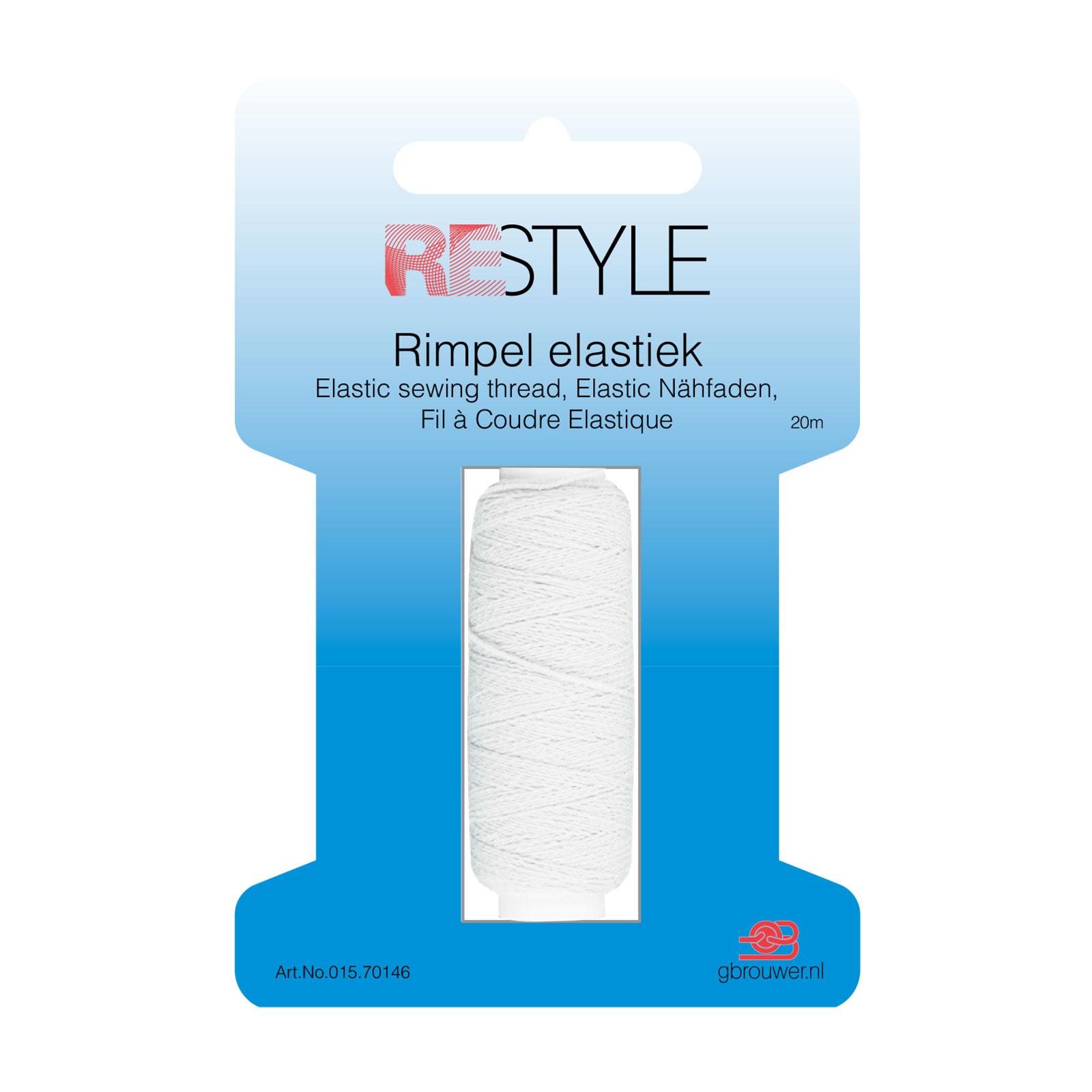 REStyle Rimpelelastiek 30m Wit-009