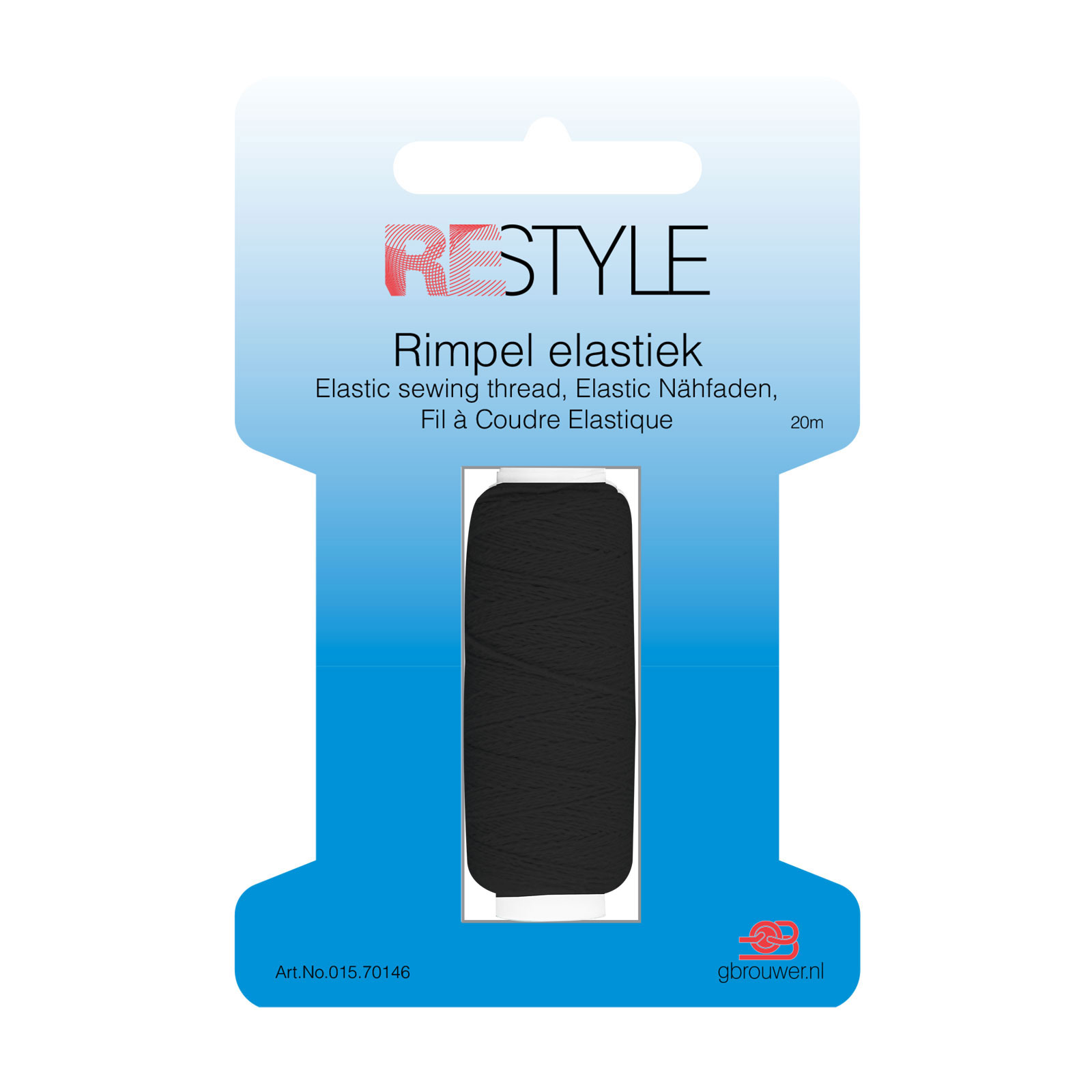 REStyle Rimpelelastiek 30m Zwart-000