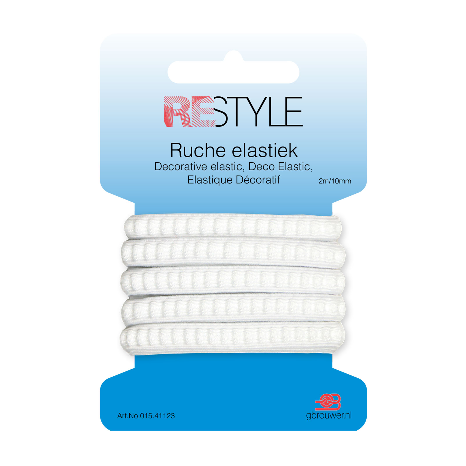 REStyle Ruche Elastiek 10mm 2m Wit-009