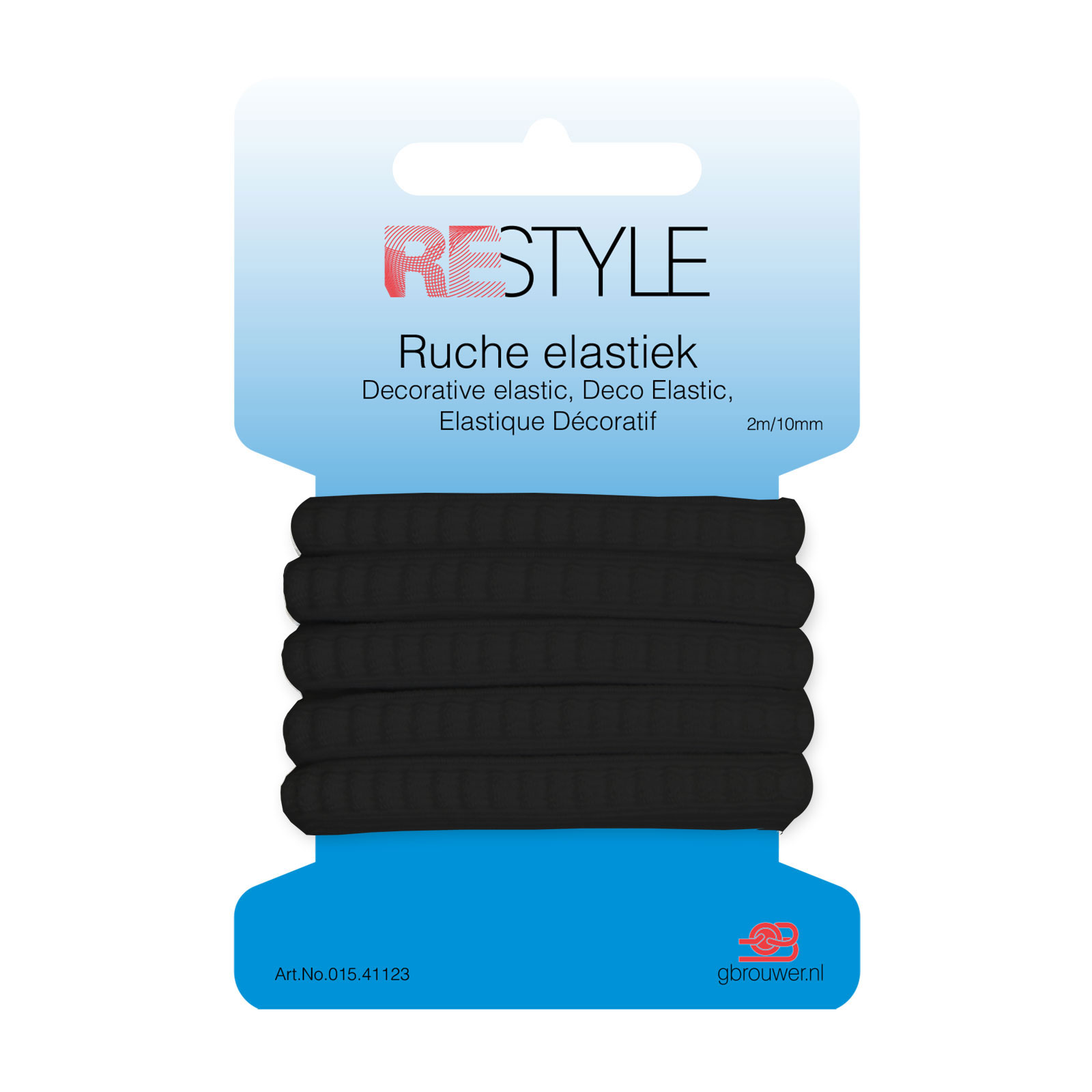 REStyle Ruche Elastiek 10mm 2m Zwart-000