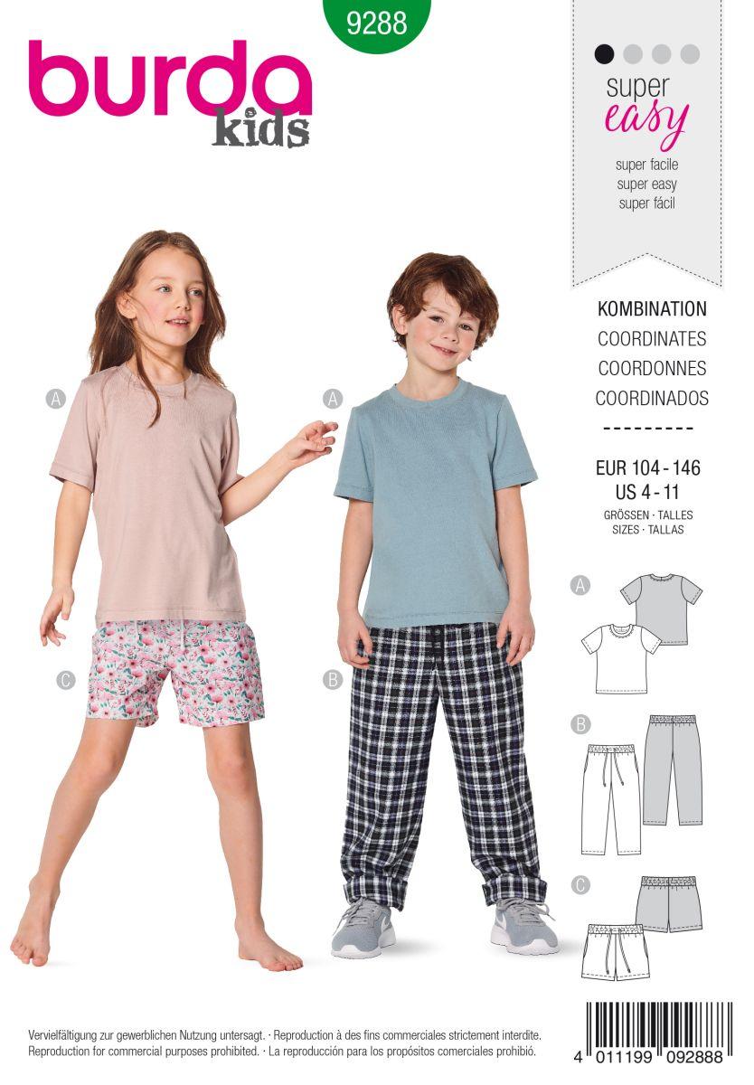 Burda Groen 9288 - Shirt en Broek in Variaties