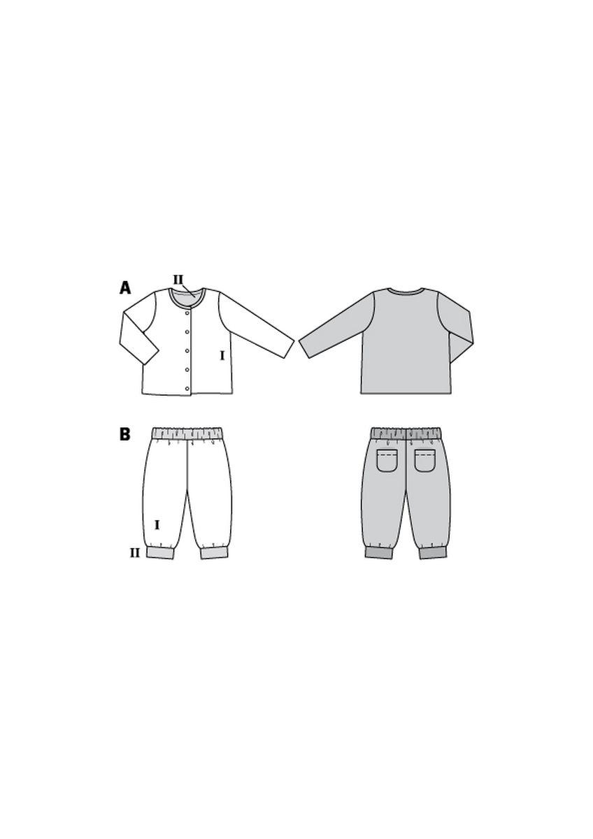 Burda Rood 9293 - Combinatie: Vest en Broek